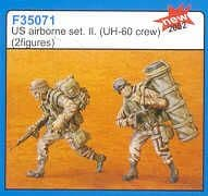 Czech Master 1/35 2 x US Airborne UH-60 crew 2 # F35071
