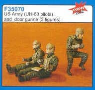 Czech Master 1/35 2 x US Army pilots and door gunner for the Aca