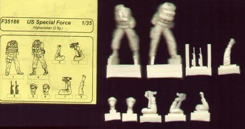 Czech Master 1/35 2 x US Special Forces Afganistan # F35186
