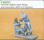 Czech Master 1/48 German Fighter Pilot siting in aircraft and me