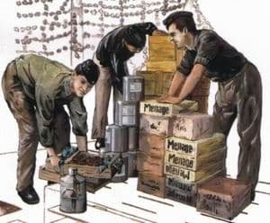 Czech Master 1/72 3 x crew figures loading provisions for U-Boat # F72117