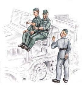 Czech Master 1/72 German driver & Personel for FAMO (3 figures)