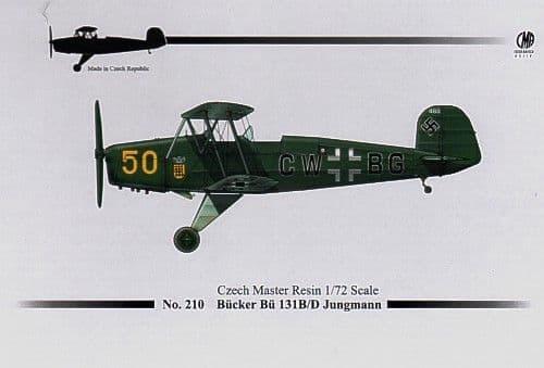 Czech Master Resin 1/72 Bucker Bu131B/D Jungmann # 210