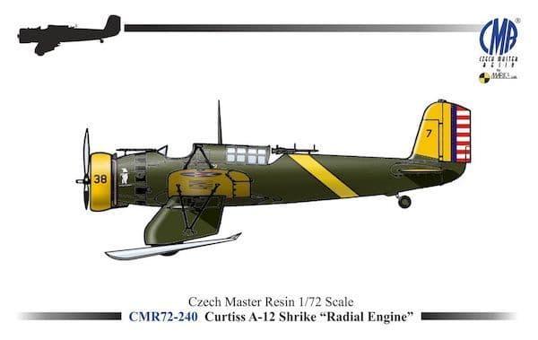 "Czech Master Resin 1/72 Curtiss A-12 Shrike ""Radial Engine"" # 72"