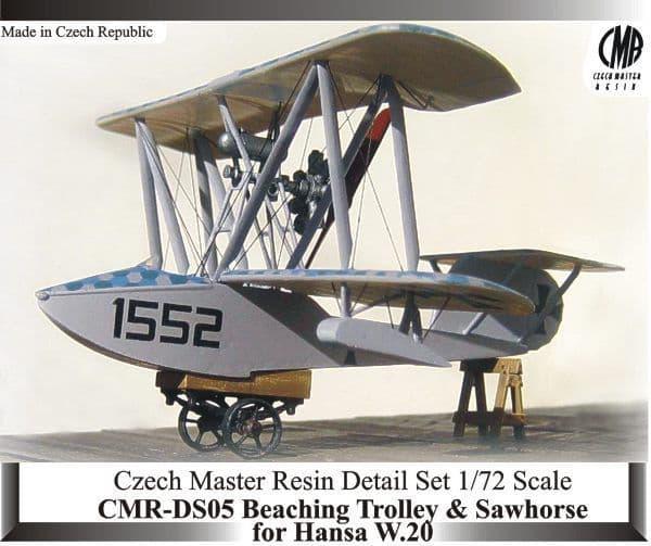 Czech Master Resin 1/72 Hansa W. 20 Beaching Trolley & Sawhorse