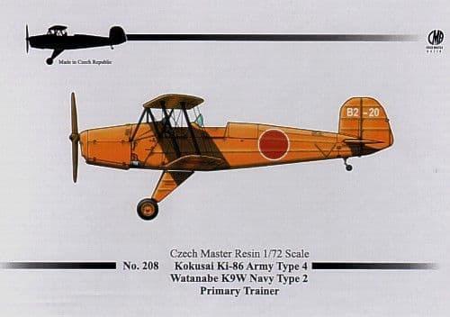 Czech Master Resin 1/72 Kokusai Ki-86 Army Type 4/Watanabe K9W N