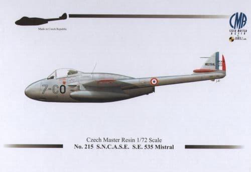 Czech Master Resin 1/72 S.N.C.A.S.E. S.E. 535 Mistral # 215