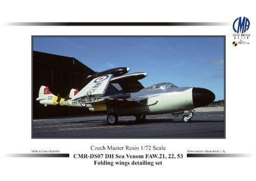 Czech Master Resin 1/72 Sea Venom FAW.21 / FAW.22 / FAW.53 Folding Wings detailing set # DS07