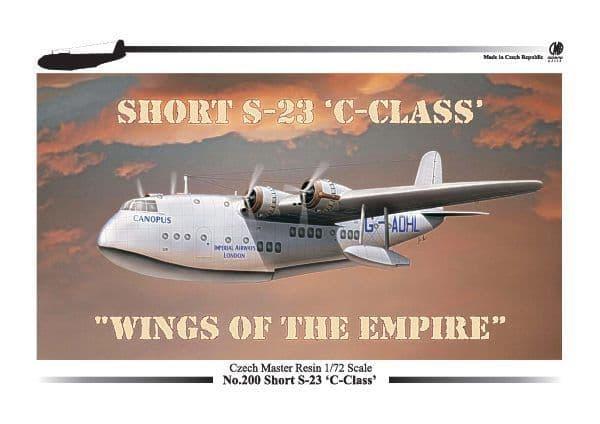 Czech Master Resin 1/72 Short S-23 C-Class Flying Boat # 200