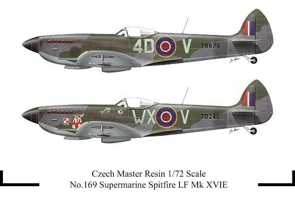 Czech Master Resin 1/72 Supermarine Spitfire LF Mk. XVIE # 169