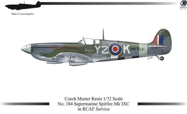 Czech Master Resin 1/72 Supermarine Spitfire Mk. IXC in RCAF Ser