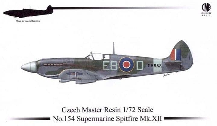 Czech Master Resin 1/72 Supermarine Spitfire Mk.XII # 154