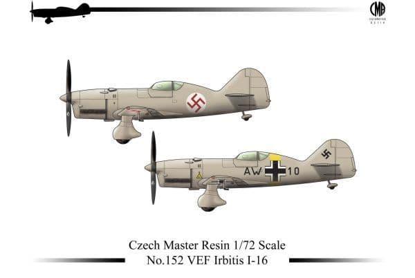 Czech Master Resin 1/72 VEF Irbitis I-16 # 152