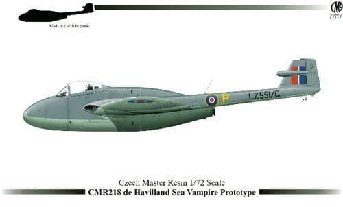 Czech Master Resin 1/72 de Havilland Sea Vampire Prototype # 218