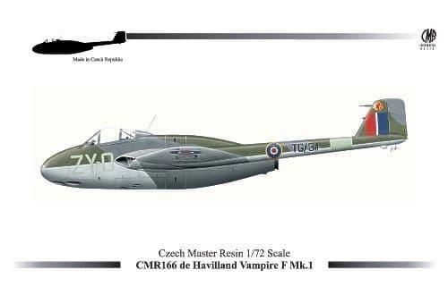 Czech Master Resin 1/72 de Havilland Vampire F Mk. 1 # 166