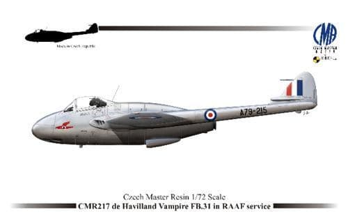 Czech Master Resin 1/72 de Havilland Vampire FB. 31 in RAAF Service # 217