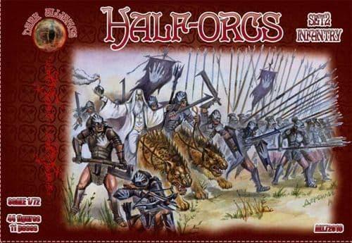 Dark Alliance 1/72 Half-Orcs Set 2 Infantry # PAL72016
