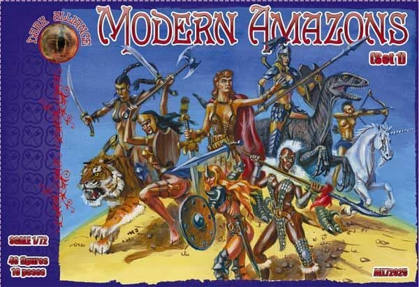 Dark Alliance 1/72 Modern Amazons Set 1 # PAL72025