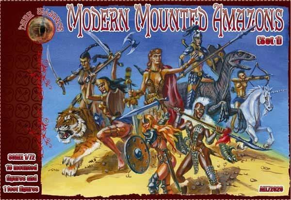 Dark Alliance 1/72 Modern Mounted Amazons Set 1 # PAL72026