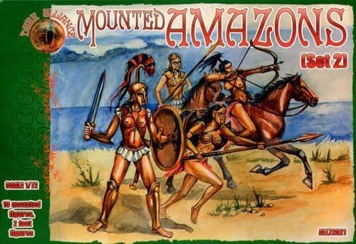 Dark Alliance 1/72 Mounted Amazons (Set 2) # PAL72021