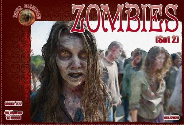 Dark Alliance 1/72 Zombies set 2 # PAL72024
