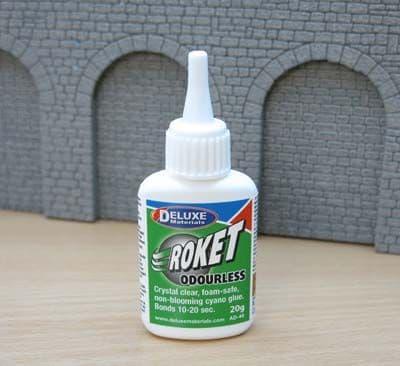 Deluxe Materials 20g Roket Cyanoacrylate Range - Odourless # AD046