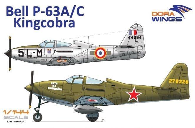 Dora Wings 1/144 Bell P-39A/C Kingcobra # 144-01