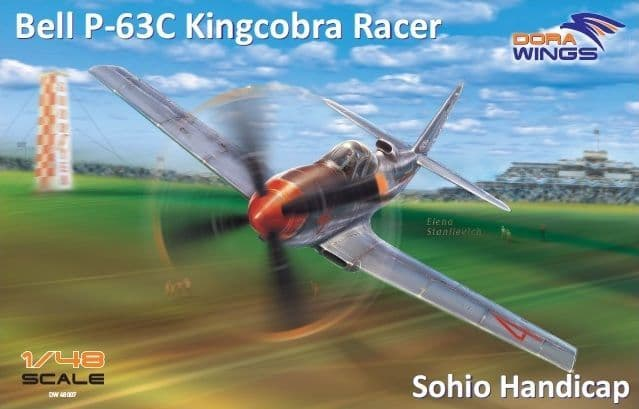 "Dora Wings 1/48 Bell P-63A Kingcobra Racer ""Sohio Handicap"" # 48007"