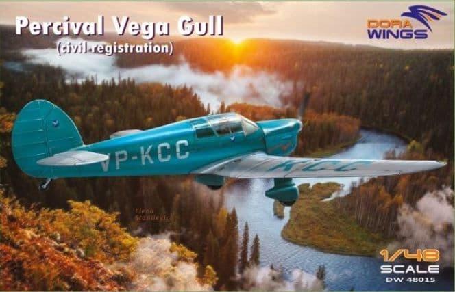 Dora Wings 1/48 Percival Vega Gull (Civil Registration) # 48015