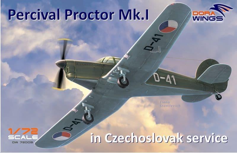 Dora Wings 1/72 Percival Proctor Mk.I in Czechoslovak Service # 72003
