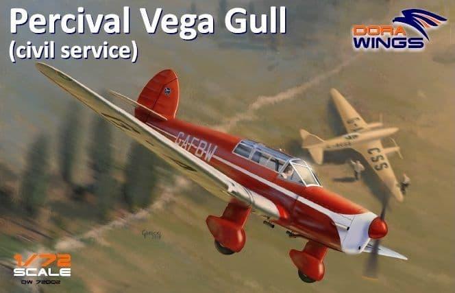 Dora Wings 1/72 Percival Vega Gull (Civil Service) # 72002