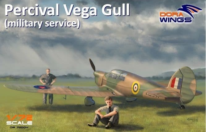 Dora Wings 1/72 Percival Vega Gull (Military Service) # 72004