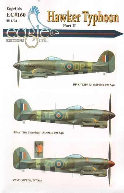 Eagle Cal 1/24 Hawker Typhoon I.B # 24160