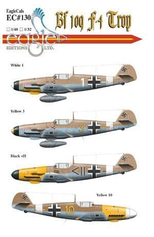 Eagle Cal 1/32 Messerschmitt Bf-109F-4 Tropical # 32130