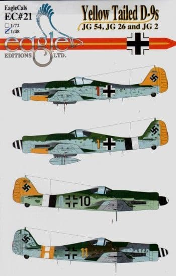 Eagle Cal 1/48 Focke-Wulf Fw-190D-9 Yellow Tailed # 48021