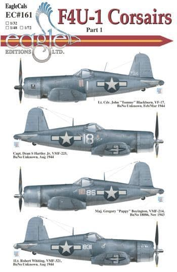Eagle Cal 1/48 Vought F4U-1 Corsairs # 48161