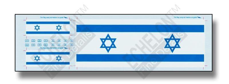 Echelon FD 1/35 Israeli Antenna Flags & Flag Patches # FL354006