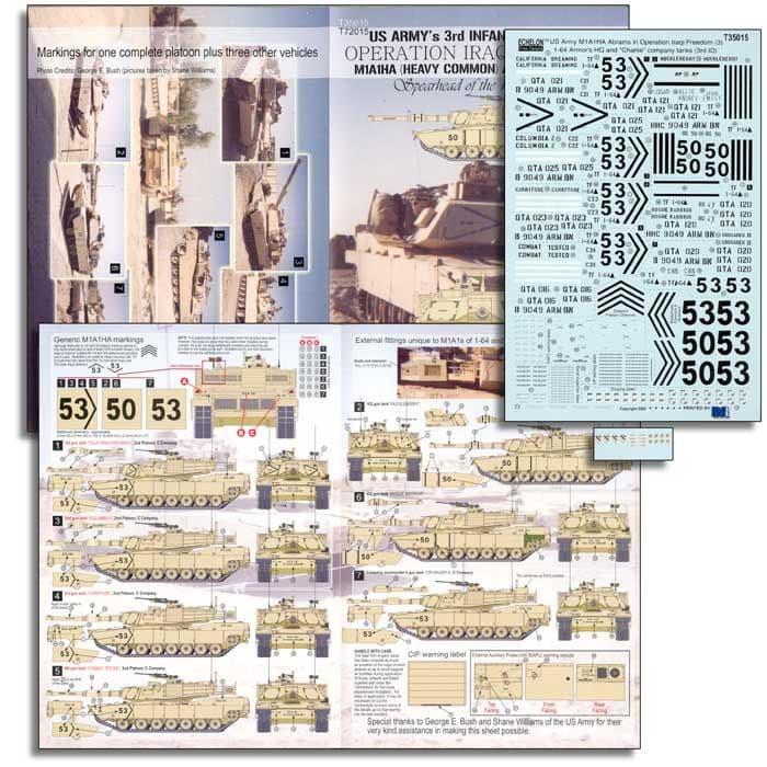 """Echelon FD 1/35 U.S. ARMY 1-64 Armor, HQ & C Company M1A1HA Abrams in """"OIF"""" # T35015"""