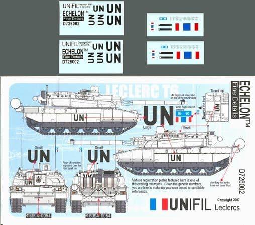 Echelon FD 1/72 UNIFIL Leclercs # D726002
