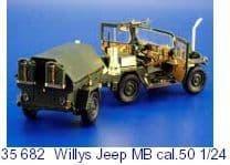 Eduard 1/24 Willys Jeep MB Cal.50 # 35682