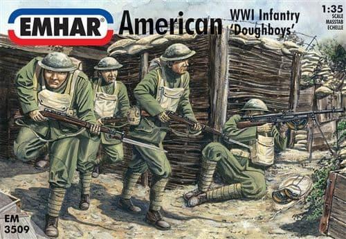 Emhar 1/35 American WWI Infantry 'Doughboys' # 3509