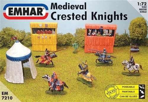 Emhar 1/72 Medieval Crested Knights # 7210