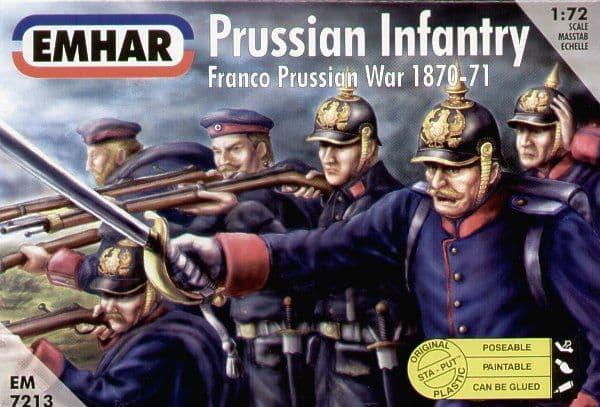Emhar 1/72 Prussian Infantry Franco-Prussian War # 7213
