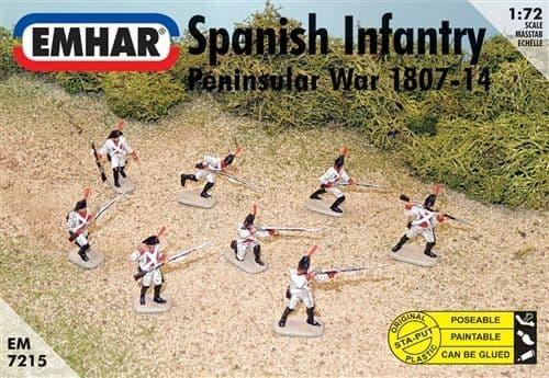 Emhar 1/72 Spanish Infantry Peninsular War 1807-14 # 7215