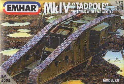 Emhar 1/72 Tadpole WWI Tank with Rear Mortar # 5005