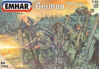 Emhar 1/72 WWI German Infantry with Tank Crew # 7203