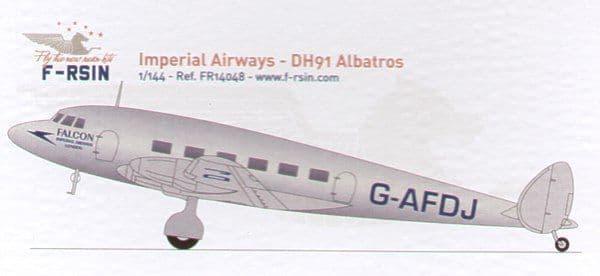 F-rsin 1/144 de Havilland DH.91 Albatross Imperial Airways # 44048
