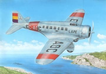 "Frrom Azur 1/72 Delta US Passenger and Transport Plane ""Over Spain"" # FR033"