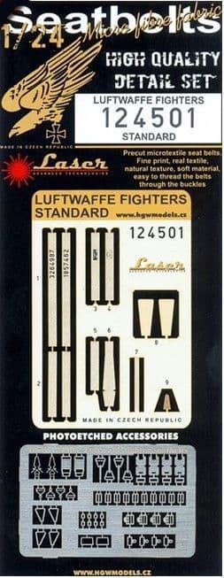 HGW 1/24 Luftwaffe Fighters - Seat Belts Early/Standard (Laser) # 124501