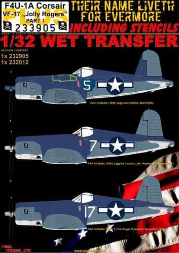 HGW 1/32 Vought F4U-1A Corsair VF-17